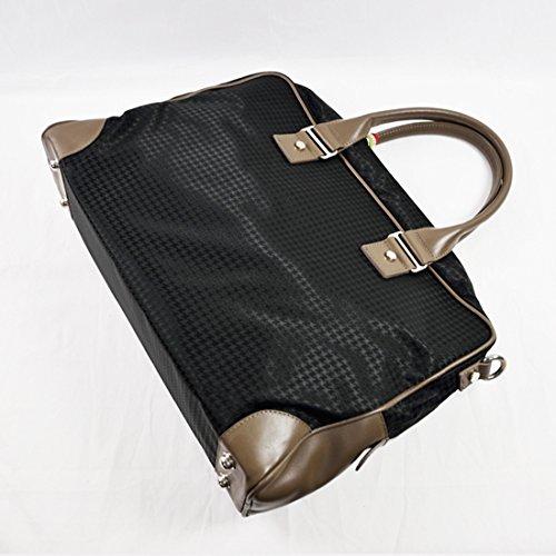 Orobianco 7025991 オロビアンコ  ビジネスバッグ/ブリーフケース 千鳥ブラック/ブロンズレザー 画像1