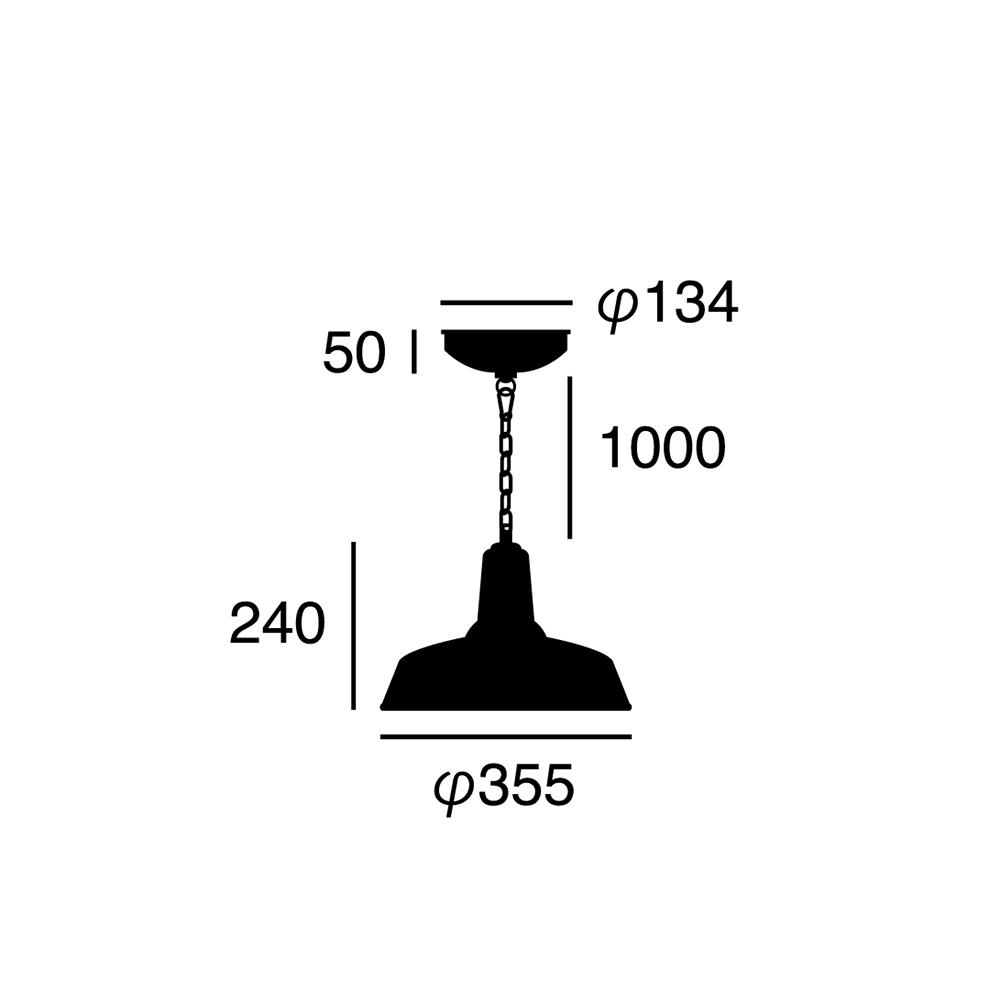 ARTWORK STUDIO AW-0446Z-GN Classic enamel-pendant (クラシックエナメルペンダント) 【M】 グリーン  寸法画像