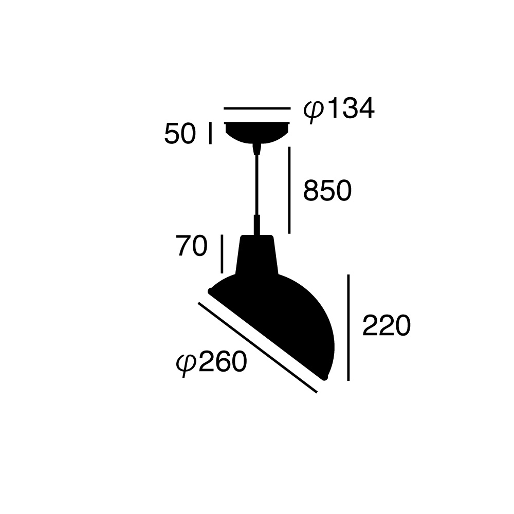 ARTWORK STUDIO AW-0459Z-BK Daily slanting enamel-pendant(デイリースランティングエナメルペンダント) ブラック  寸法画像