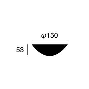 ARTWORK STUDIO BU-1114-BK Ceiling cover (シーリングカバー) ブラック  寸法画像