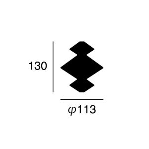 ARTWORK STUDIO BU-1136-WH Cable case Rook (ケーブルケース ルーク) ホワイト  寸法画像