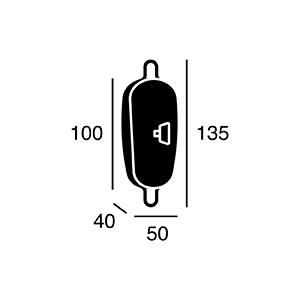 ARTWORK STUDIO BU-1145-V/ME Vintage cable adjuster (ビンテージケーブルアジャスター) ビンテージメタル  寸法画像