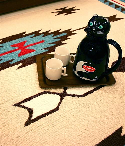ARTWORK STUDIO TR-4276CR 「Native rug(ネイティブラグ)」Chimayo(チマヨ柄)Sサイズ (クリーム) 画像4