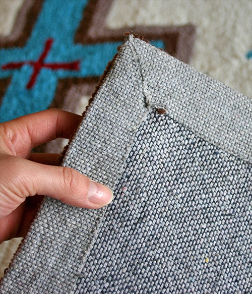 ARTWORK STUDIO TR-4239-LB 「Native rug(ネイティブラグ)」Cross(クロス柄)Lサイズ (ライトブルー) 画像4