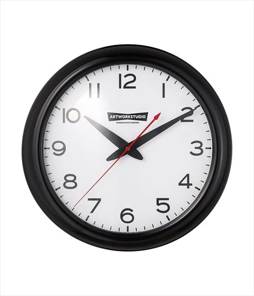 ARTWORK STUDIO TK-2071BK/WH ウォールクロック「Franklin-clock(フランクリンクロック)」  (ブラック+ホワイト) 画像1