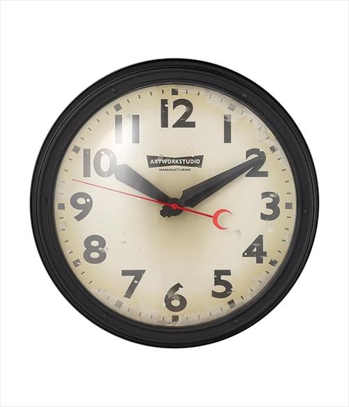ARTWORK STUDIO TK-2072BK/VI ウォールクロック「Engineered-clock(エンジニアードクロック)」  (ブラック+ビンテージ) 画像1