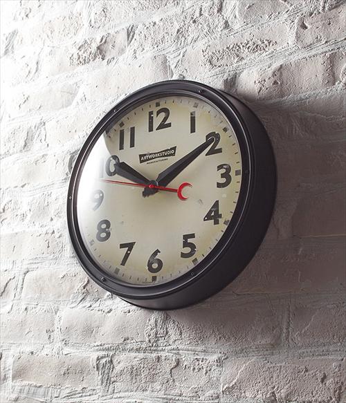 ARTWORK STUDIO TK-2072BK/VI ウォールクロック「Engineered-clock(エンジニアードクロック)」  (ブラック+ビンテージ) 画像2
