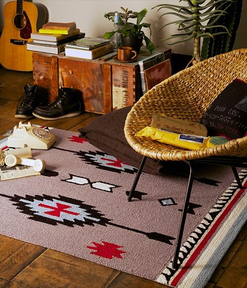 ARTWORK STUDIO TR-4280GY 「Native rug(ネイティブラグ)」Chimayo(チマヨ柄)Mサイズ (グレー) 画像2