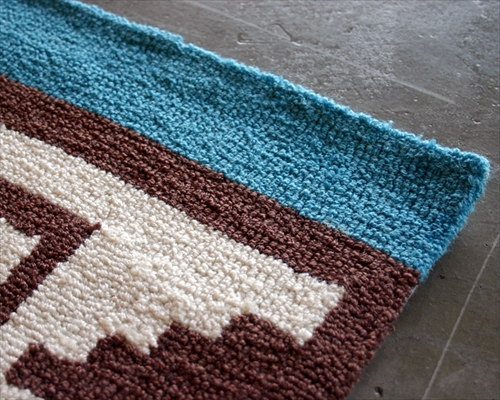 ARTWORK STUDIO TR-4241BL  「Native rug(ネイティブラグ)」Hills(ヒルズ柄)Lサイズ (ブルー) 画像1