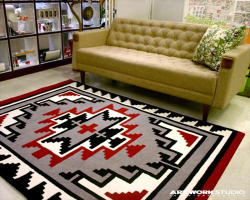 ARTWORK STUDIO TR-4283RD 「Native rug(ネイティブラグ)」Hills(ヒルズ柄)Mサイズ (レッド) 画像1