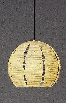 林工芸 TP-1032 林工芸 TP-1032(LED) 和紙ペンダント/提灯(アート紙)楮黒皮入り紙 画像1