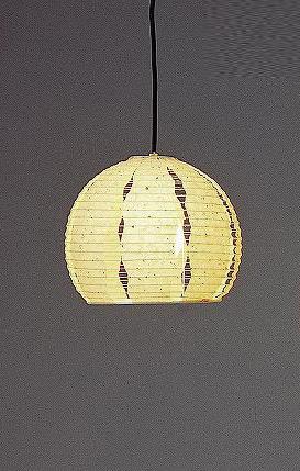 林工芸 TP-1034 林工芸 TP-1034(LED) 和紙ペンダント/提灯(アート紙)楮黒皮入り紙 画像1