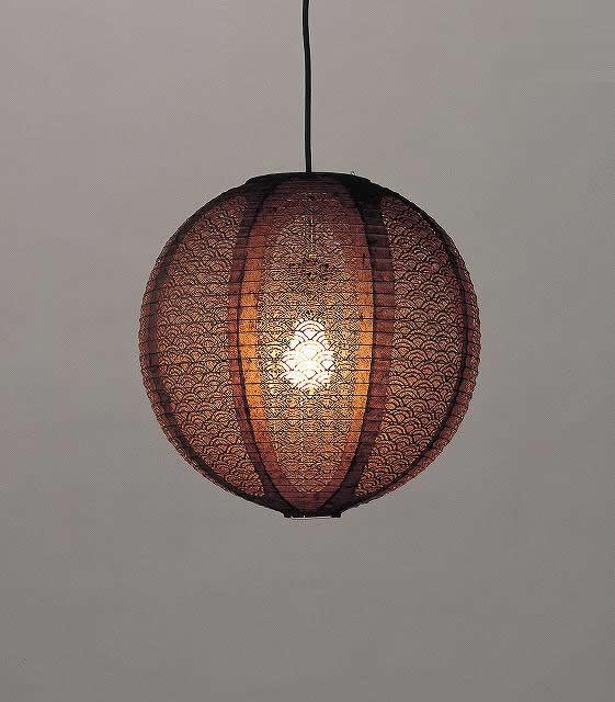林工芸 TP-1612 林工芸 TP-1612(LED) 和紙ペンダント/レース和紙 青海波 窓灯りシリーズ 画像1