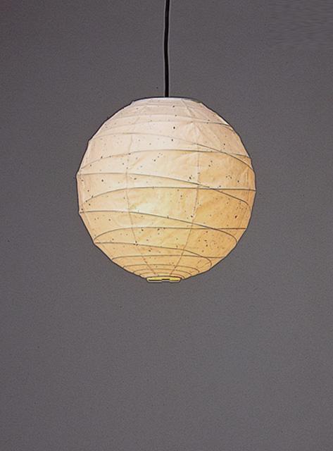 林工芸 TP-16KK 林工芸 TP-16KK(LED) 和紙ペンダント/提灯(アート紙)楮黒皮入り紙) 画像1