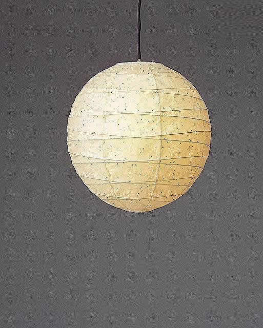 林工芸 TP-18KK 林工芸 TP-18KK(LED) 和紙ペンダント/提灯(アート紙)楮黒皮入り紙) 画像1