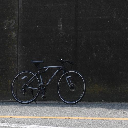 WACHSEN BAC-700-BK 700Cアルミクロスバイク14段変速 DUNKEL 画像3