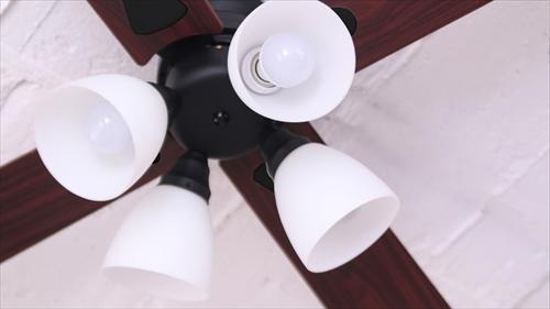 IF-101-BK シーリングファン 4灯 ブラック LEDランプ付 画像2