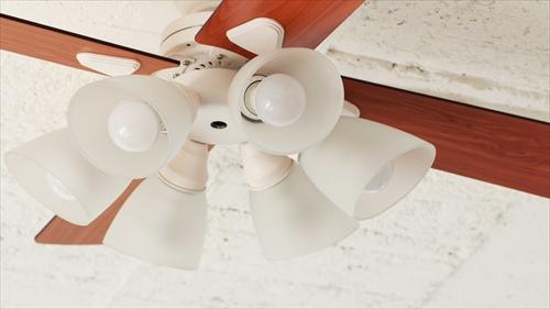 IF-102-WH シーリングファン 6灯 ホワイト LEDランプ付 画像1