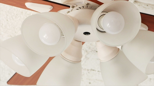 IF-102-WH シーリングファン 6灯 ホワイト LEDランプ付 画像3