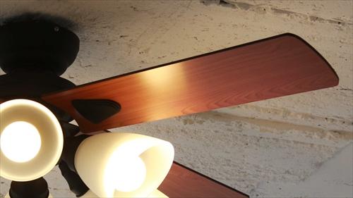 IF-102-BK シーリングファン 6灯 ブラック LEDランプ付 画像3