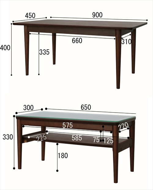 EMT-2412BR Nest Table 画像8