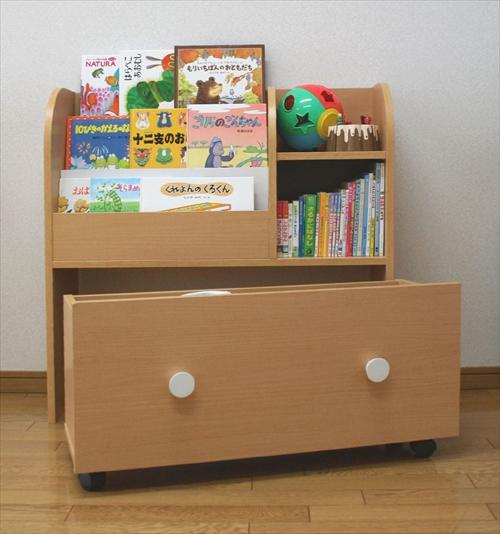 KDR-2140NA キッズおもちゃ箱付き絵本ラック 画像10