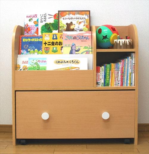 KDR-2140NA キッズおもちゃ箱付き絵本ラック 画像12