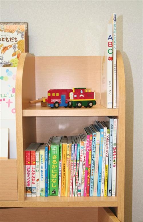 KDR-2140NA キッズおもちゃ箱付き絵本ラック 画像4