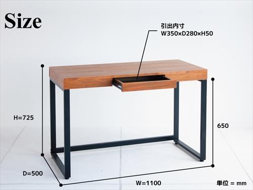 T-2314BR Walnut Desk 画像15