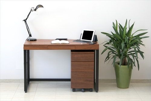 K-2547BR Walnut Desk ChestW340 画像6