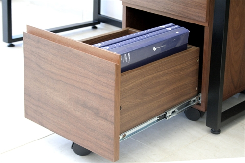 K-2547BR Walnut Desk ChestW340 画像11
