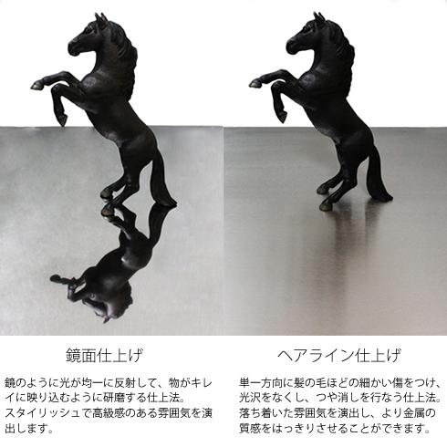 三代目板金屋 pokkuri-st-hl pokkuri サイドテーブル(ヘアライン仕上げ) 画像3