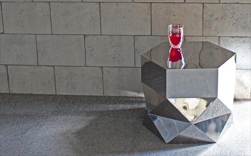 三代目板金屋 hexagon-st hexagon サイドテーブル(鏡面仕上げ) 画像4