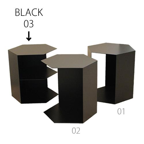 三代目板金屋 honeycomb-03-bk honeycomb 前面開放型(棚板付き) スチール製 画像3