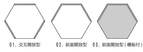 三代目板金屋 honeycomb-02-bk honeycomb 前面開放型 スチール製 画像4