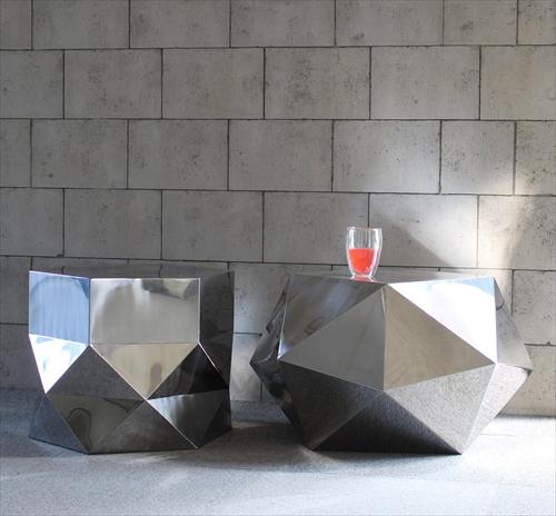 三代目板金屋 octagon-st-hl octagon サイドテーブル(ヘアライン仕上げ) 画像3