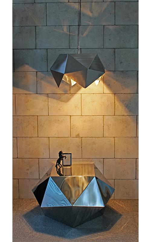 三代目板金屋 octagon-st-hl octagon サイドテーブル(ヘアライン仕上げ) 画像2