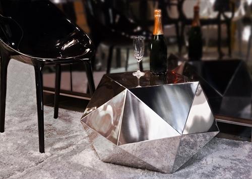 三代目板金屋 octagon-st-hl octagon サイドテーブル(ヘアライン仕上げ) 画像4