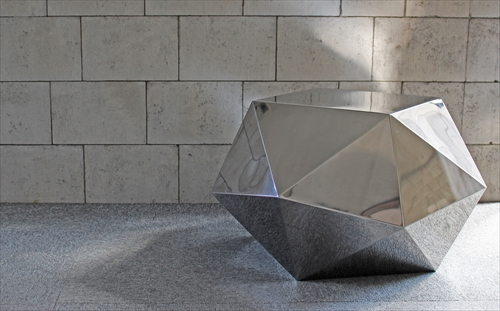 三代目板金屋 octagon-st-hl octagon サイドテーブル(ヘアライン仕上げ) 画像1