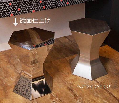 三代目板金屋 pokkuri-st pokkuri サイドテーブル(鏡面仕上げ) 画像2