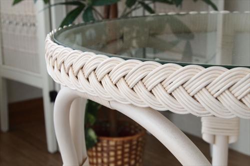 サンフラワーラタン T835WW フィオーレ ガラステーブル 画像3